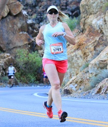 Michelle Lomu Running REVEL Big Cottonwood Marathon
